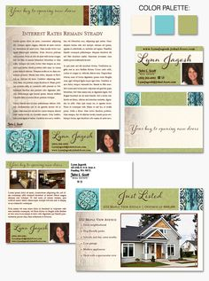 Lynn's new #branding matches her bright personality and artistic nature.