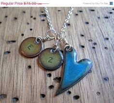 SALE Mother Necklace Copper Enamel Personalized by Steinvika, $67.50