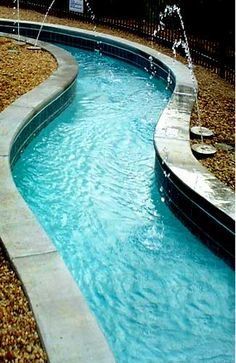 lazy river pool..Jerrod and I want to have one at our house someday with a swim up bar in the middle! :)