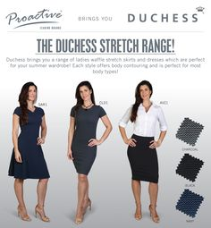 Our waffle stretch range offers you style and comfort and are perfect for your 2020 summer work wardrobe! Summer Work Wardrobe, Corporate Outfits, Body Contouring, Black And Navy, Dress Skirt, Your Style, Dresses For Work, Waffle, Lady