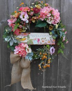 Spring Welcome Wreath, Welcome Wreath