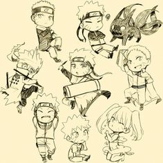 Chibi Naruto through the ages