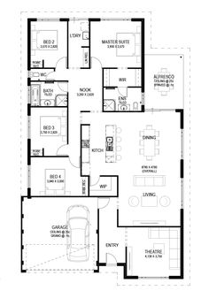 The Vesta is a 4 bed, 2 bath home design that promotes family living as well private areas that ensure every family member is happy. 4 Bedroom House Plans, Family House Plans, Dream House Plans, House Floor Plans, Home And Family, Morden Family, Natural Building, Architect House, Wooden House