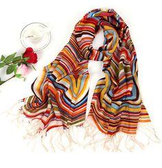 Rainbow stripe sweet scarf multicolor scarf por happyfamilyjudy, $38.00