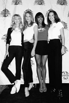 On April 7th in 1995, The Fashion Cafe opened in NYC. Models Naomi Campbell, Elle MacPherson, and Claudia Schiffer opened the business to be a fashionable hot spot. Subscribe to daily Fashion History facts on our blog! #fashion #model #tifh