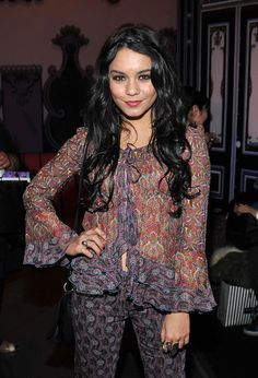 Actress Vanessa Hudgens attends the Anna Sui Fall 2011 fashion show during Mercedes-Benz Fashion Week at The Theatre at Lincoln Center on February 16, 2011 in New York City.