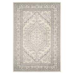 Alice Rug in Ivory & Silver
