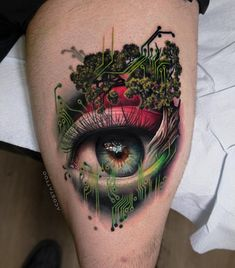 Eye Tattoo By Andres Acosta – Tattoos – Cozy Places Best Tattoo Designs, Tattoo Designs For Women, Tattoos For Women, Wolf Tattoos, Body Art Tattoos, Small Tattoos, Ojo Tattoo, Surreal Tattoo, Magic Tattoo
