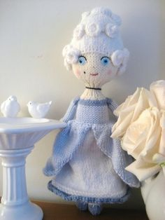 Amigurumi Pattern Knit Marie Antoinette Doll Digital Download by AmyGaines on Etsy https://www.etsy.com/uk/listing/55220595/amigurumi-pattern-knit-marie-antoinette