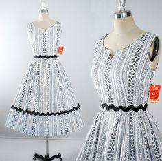 Vintage 50s Dress / 1950s Sundress DEADSTOCK w/ by GeronimoVintage