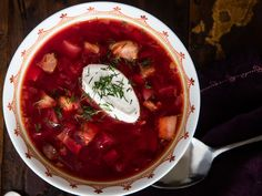 Very hot Ukrainian Borscht Recipe (With Beets, Beef, Pork, and More) – Hifow Borscht Soup, Pork Recipes, Cooking Recipes, Beet Recipes, Yummy Recipes, Pork Hock, Ham Hock, Beet Soup, Soups