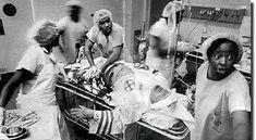 KKKの緊急手術をする国人医師と看護師
