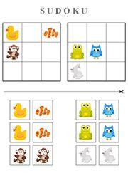 Sudoku très facile pour enfants de 4 à 6 ans