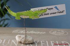 Geschenkidee, Present, Krokodil, crocodile, Kartenhalter, DIY, Gratis Anleitung, free tutorial