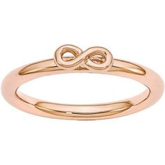 Stackable Expressions Sterling Silver Pink-Plated Infinity Symbol Ring, Women's, Size: 7