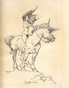 Girl on Horse / 1975 (Frank Frazetta)