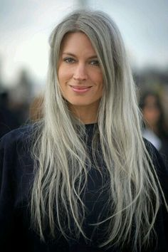 Long Grey Hairstyles Extraordinary Mature …  Long Hai…