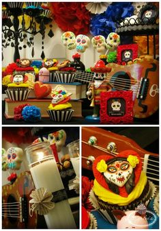 Book of Life dessert table close-up ~ Lynlee's