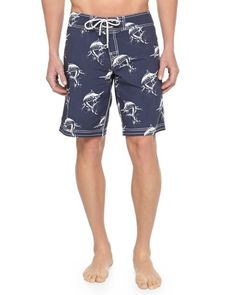 a301fbe30f Vilebrequin - Mayo Boardshorts, Ocean, Menswear, Swimwear, Beachwear, Blue,  Clothes