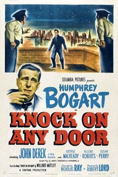 """Directed by Nicholas Ray.  With Humphrey Bogart, John Derek, George Macready, Allene Roberts. Andrew Morton is an attorney who made it out of the slums. Nick Romano is his client, a young man with a long string of crimes behind him. After he lost his paycheck gambling, hoping to buy his wife some jewelry, she announced she was pregnant, Later he finds her dead from suicide. When he turns again to robbery he's caught by a cop and Nick pumps all his bullets into him in frustration…"