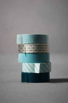 What better to fasten or decorate with than colorful, coordinating tapes? Set of five. Washi paper. Imported.