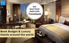 Call us at to book budget & Luxury Hotels around the world at the best prices. Our services are available Best Hotel Deals, Best Deals, Book Hotel Online, Flight And Hotel, Luxury Hotels, Budgeting, Around The Worlds, Books, Travel