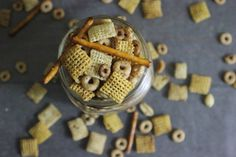 Easy Spicy Crockpot Snack Mix -