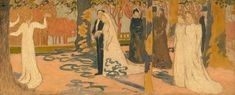 Parisians at the Seaside, Evening - Maurice Denis - WikiArt.org