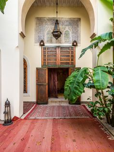Adilah is a 4 bedroom luxury riad in the medina of Marrakech. It features an outdoor heated pool and a rooftop terrace with incredible views over the city. Entrance, Luxury, Luxurious Bedrooms, Furniture, Property, Home Decor, Fireplace, Swimming Pools