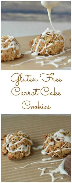 Gluten Free Carrot Cake Cookies Collage
