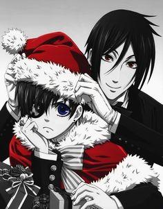anime: kuroshitsuji (black butler)  anime character: sebastian michaelis and ciel phantomhive