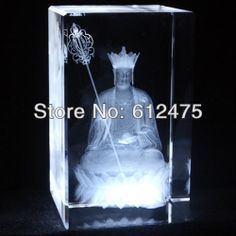crystal 3D laser image souvenirs gift/Buddhist supplies religious gift,crystal model $28.55