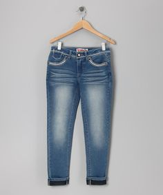 Take a look at this Medium Stone Wash Skinny Jeans - Girls by Squeeze on #zulily today!
