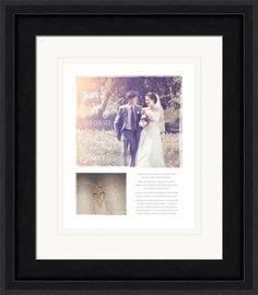 Customized Wedding Vow Art featuring your photos and text.