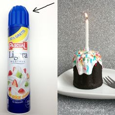 from plastic lid to birthday cake