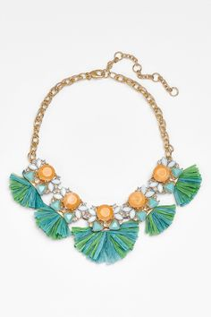Lee Angel | Lee by Lee Angel Raffia Fringe Statement Necklace | Nordstrom Rack