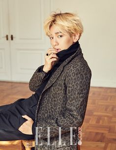Baekhyun - 151231 Elle Korea website update Credit: Elle.