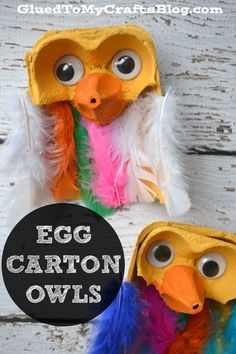 School crafts For Lockers - Egg Carton Owls Kid Craft Halloween Crafts For Kids, Diy Crafts For Kids, Projects For Kids, Arts And Crafts, Owl Crafts, Cute Crafts, Daycare Crafts, Toddler Crafts, Craft Activities For Kids