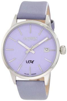 Haurex Italy Women`s 6A363DL1 Leaf Lilac Dial Luminous Hands Date Watch $154.00