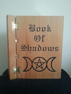Wooden engraved book of shadows faywoodcrafts