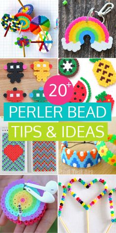20 of the best Perler bead tips and ideas to keep the kids buy for days! #perlerbeads #meltybeads #hamabeads ##kidscrafts