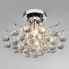 3 Light Modern Crystal Chandelier - USD $ 179.99