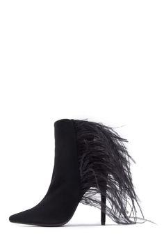 4e80300d072 Jeffrey Campbell Shoes VAIN-FTHR New Arrivals in Black Suede Combo
