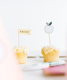 Make your baking extra sweet by styling with these decorating ideas including cupcake toppers & wrappers