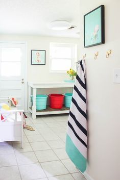 Whether you have a combined laundry mudroom or each is separate, this makeover shares functional and pretty mudroom laundry room ideas that are golden! Mudroom Laundry Room, Small Laundry Rooms, Laundry Room Organization, Room Ideas, Decor Ideas, Salon Design, Basements, Garages, Sheds