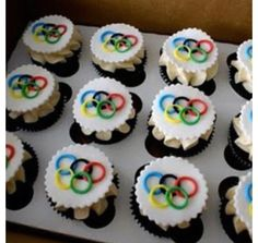 Celebrate the Olympic Games kick off in Sochi this February with these cute cupcakes.