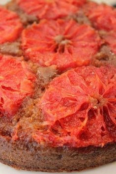 red grapefruit upsidedown cake yum!!!