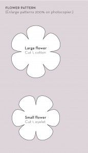 Moldes de flores de tela