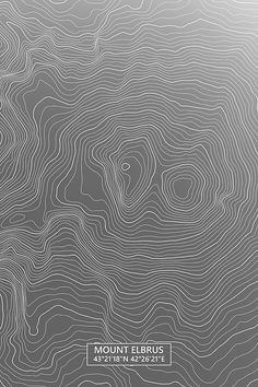 Mount Elbrus Colored Contour Map in Gray Map Design, Graphic Design, Mount Elbrus, Crystal Drawing, Color Contour, Map Skills, Lines Wallpaper, Area Map, Pattern Images