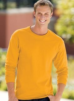 Hanes Men's Long-Sleeve Tag-Free Tee Joey Tribbiani, Long Sleeve Shirts, Mens Tops, T Shirt, Free, Fashion, Accessories, Supreme T Shirt, Moda